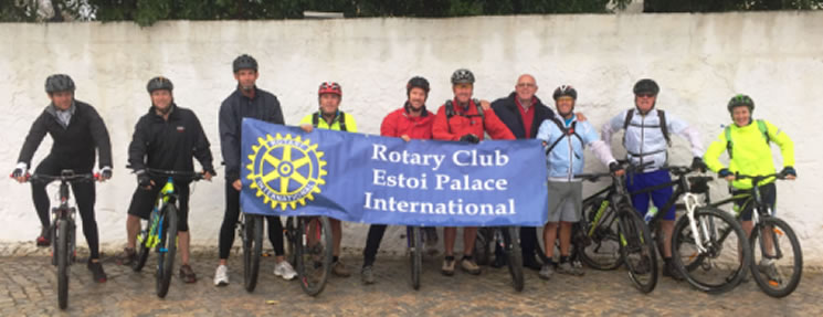 The Rotary Club of Estoi Palace International (RCEPI) organised a fundraising bike ride with Activity Algarve Bike Rides on Sunday 20th November