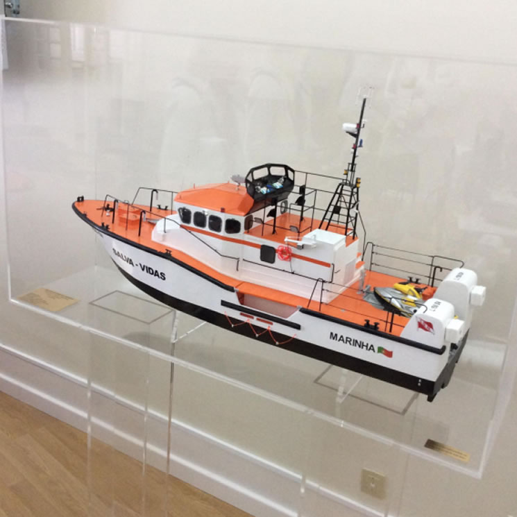 The Lifeboat model in display case