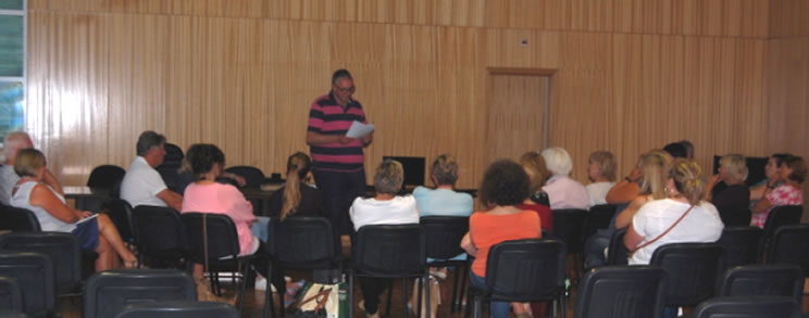 Play director Chris Winstanley, introducing the play to members of our theatre group earlier this year