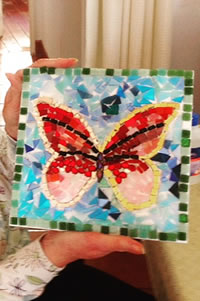 Val's mosaic butterfly