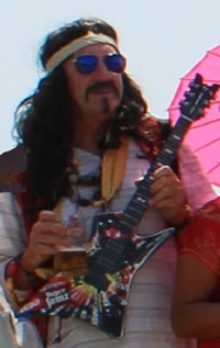 Cormac Murphy as rock icon Frank Zappa