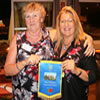 L to R:  Shirley Dunne and Manuela Robinson, President of Rotary Club Estoi Palace International