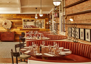 Bovino Steakhouse -  it blends the best in modern Steakhouse with contemporary urban design