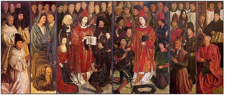 These six panels, depicting aspects of the life of St. Vincent, were painted by Nuno Gonçalves in the mid 15th century.