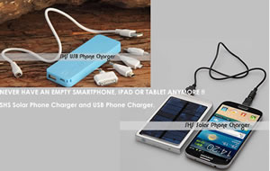 Never have an uncharged Smartphone, iPad or Tablet again...