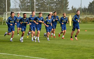 Danish football team Brøndby IF at Amendoeira Golf Resort