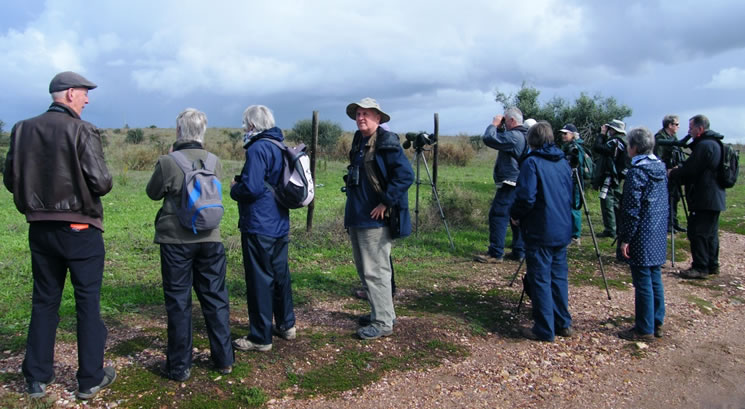 Honeyguide Wildlife Holidays group, at Castro Marim