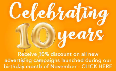 10% Anniversary Advertising Discount