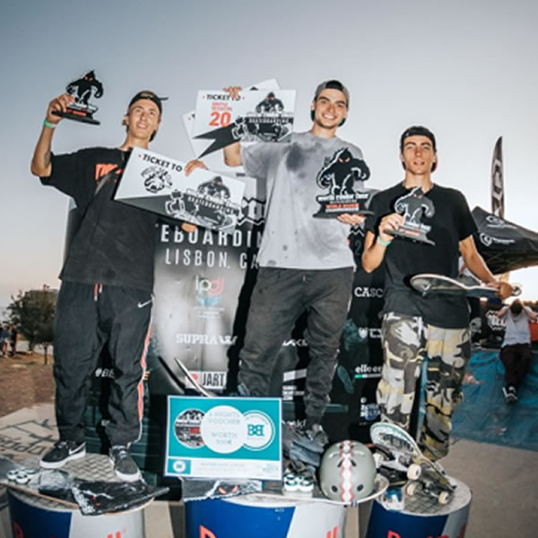 Portuguese Guilherme Lima wins the first World Rookie Skateboard Finals