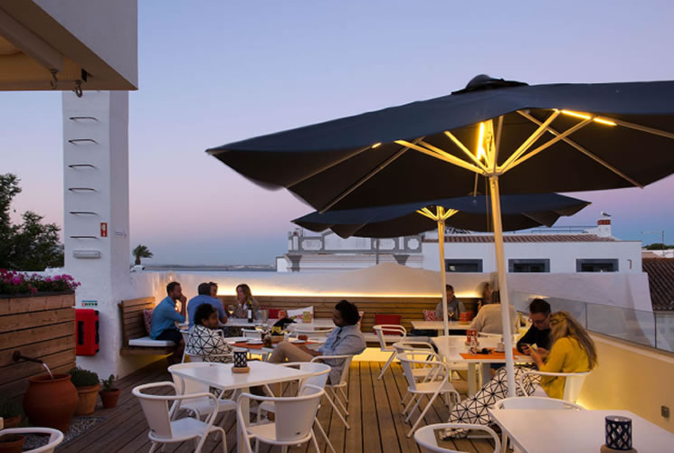A Terrace Bar with a Sea View