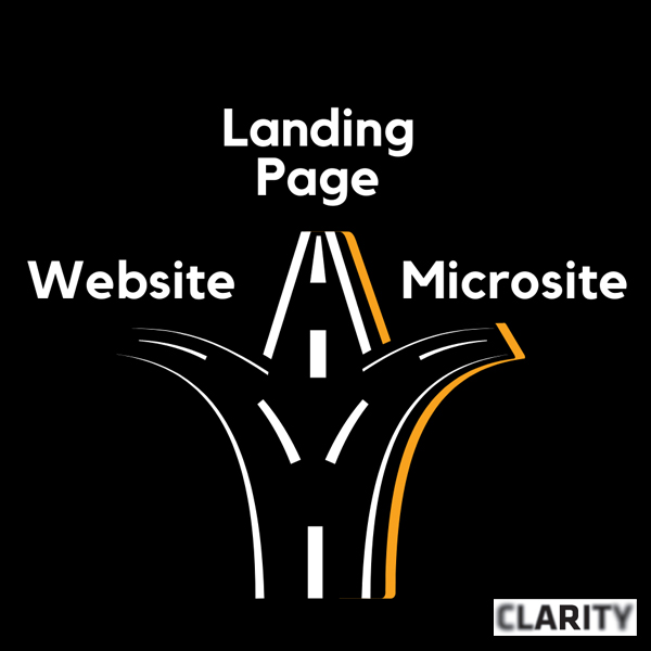 Which should I use: website, landing page or microsite?