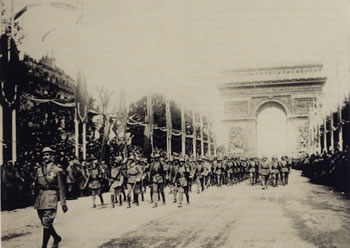 Victory march in Paris