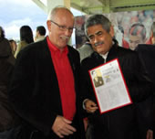 Chris with Benfica President