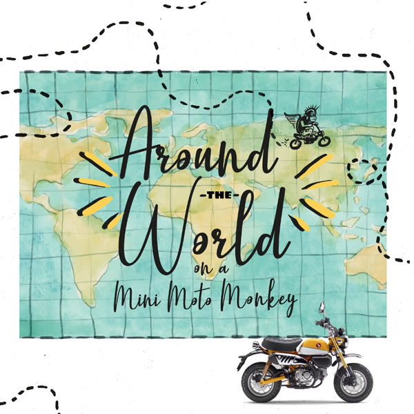 Portuguese youngster wants to be the first to ride around the world on a minibike!