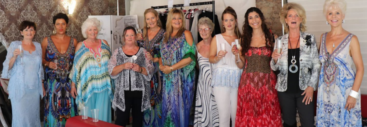 In the photo from left to right: Pauline Surgenor, Hannah van Toth, Shirley Griffiths,  Jan Boley, Marie Jose Stringer, Lindsey Quinn, Jackie Merner, Emma d'Oliveira, Aurea Terrivel, Nikki May, Gail McAteer