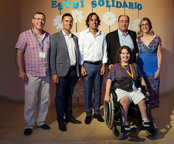 In the photo from left to right: RCEPI Youth Committee Chair Vitor Rosao, RCEPI President Bruno Sousa Cosa, Francisco Soares, School Director Rogerio Bacalhau Mayor of Faro, RCEPI member Dora Cristina Valério de Jesus Luís.