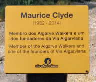 A plaque in memory of Maurice Clyde