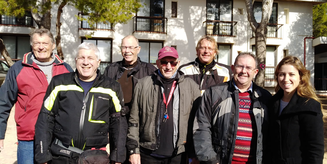 At Gaivota L to R: Peter Moseley ,Stan Green ,Ulf Kollbratt ,David Shirley, Juergen Heinz ,Martin Holloway and Margarida Rodrigues
