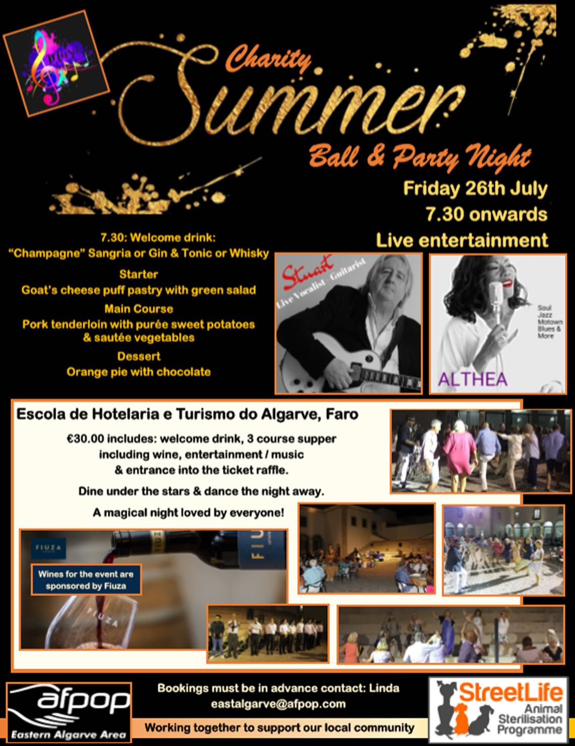 Charity Summer Ball for StreetLife Animal Sterilisation - July 26th