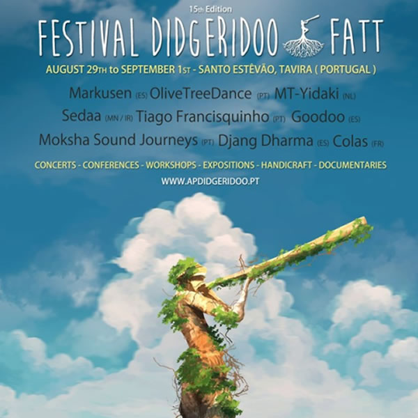 Didgeridoo Festival returns to the Algarve - Aug 29th to 31st