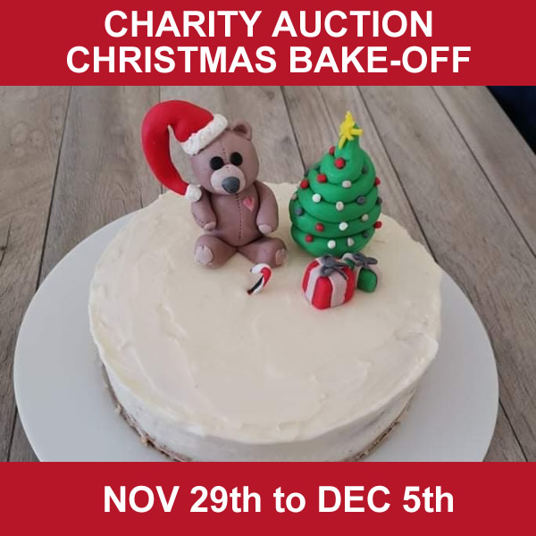 Charity Auction Christmas Bake Off – Starts 29th November