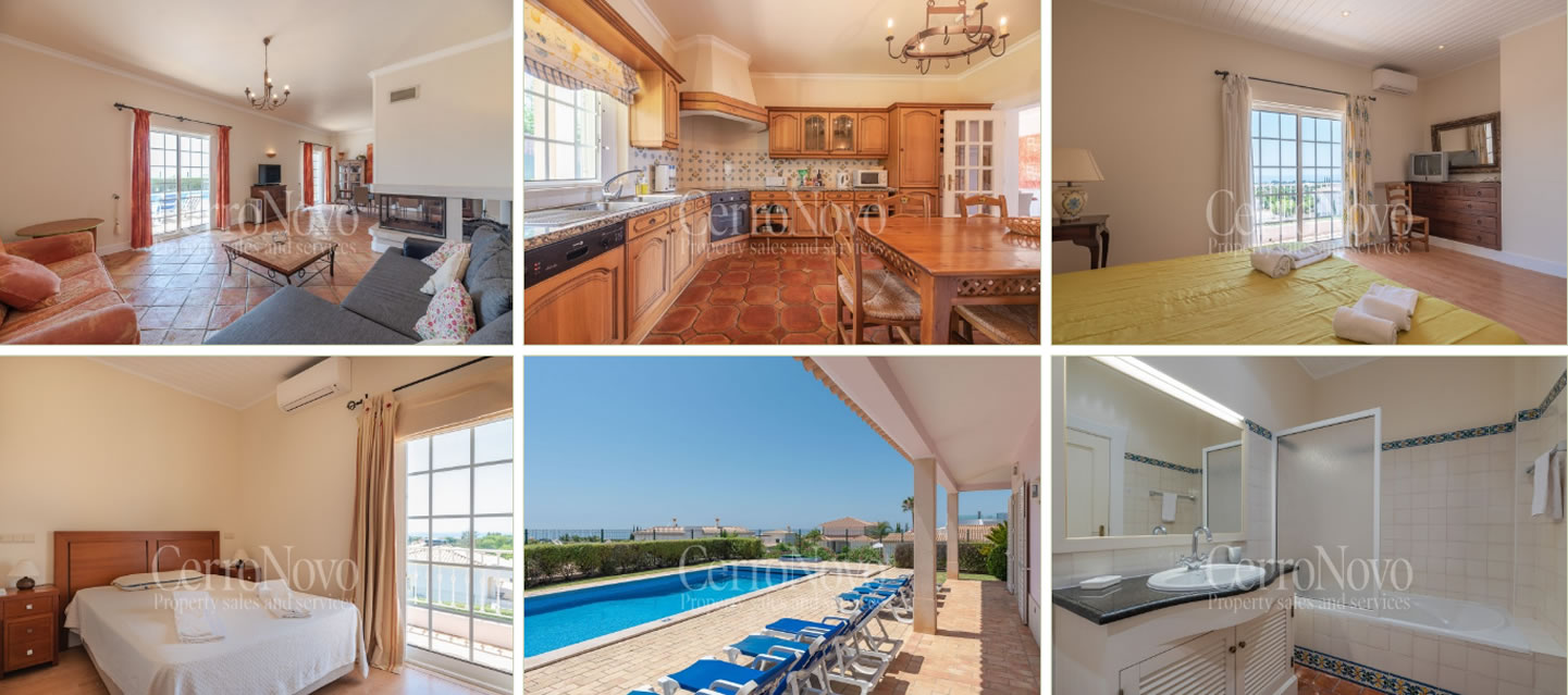 Four bedroom villa with panoramic views across the countryside to the ocean