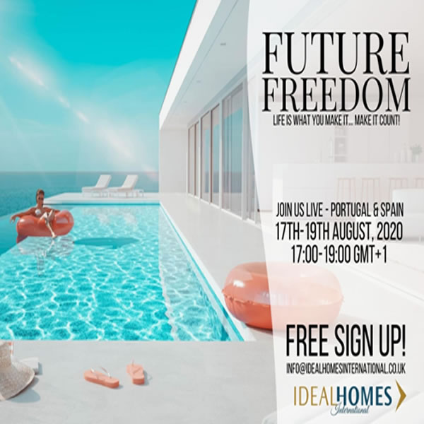 'Future Freedom' Portugal & Spain Property Webinars in August