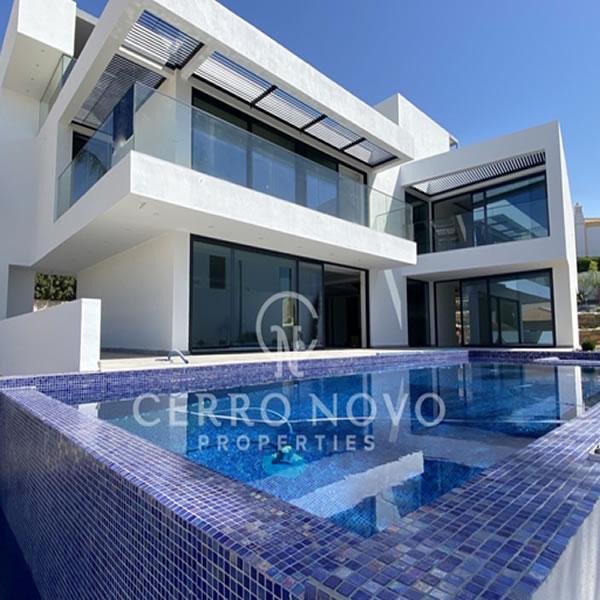 A substantial, contemporary villa within a short walk of the beach